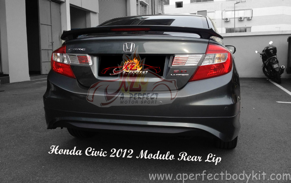 Honda Civic 2012 Modulo Rear Lip Honda Civic 2012 Johor