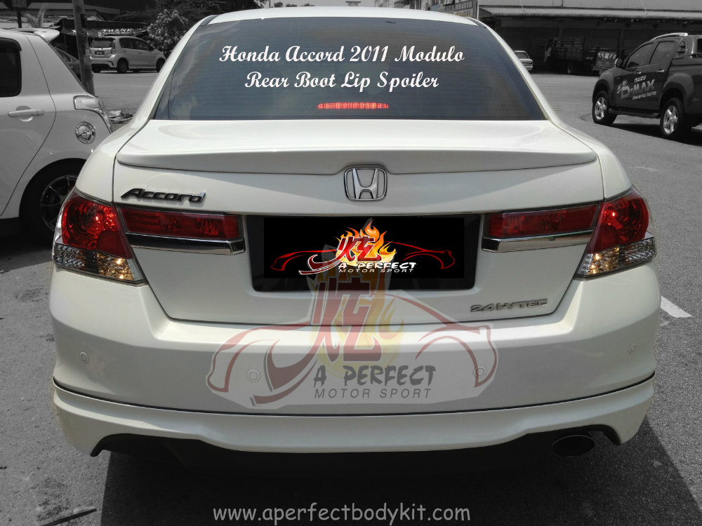 Honda Accord 2011 Modulo Rear Boot Lip Spoiler