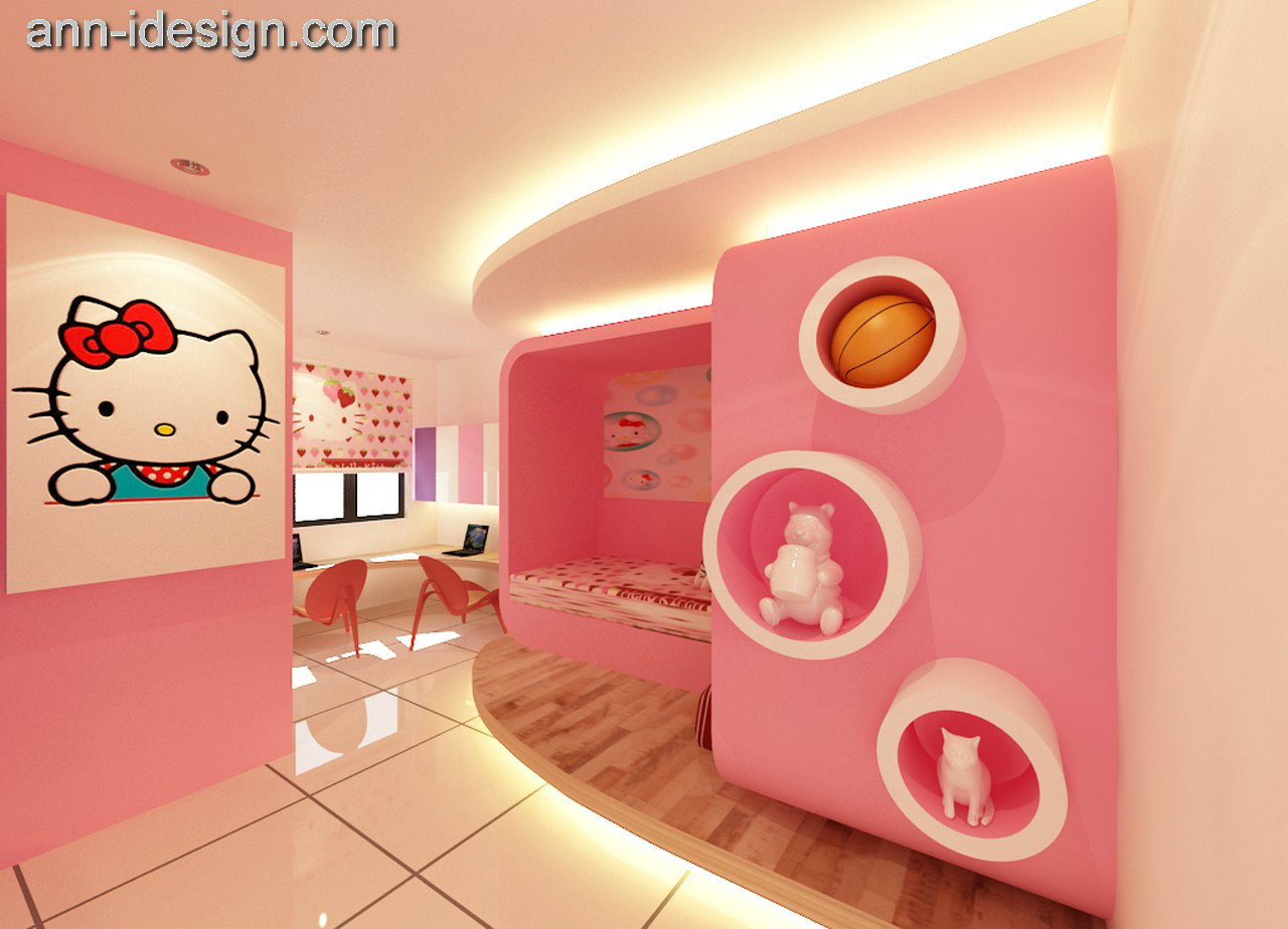 Hello Kitty Design Bedroom Kulai Jaya Johor Bahru JB