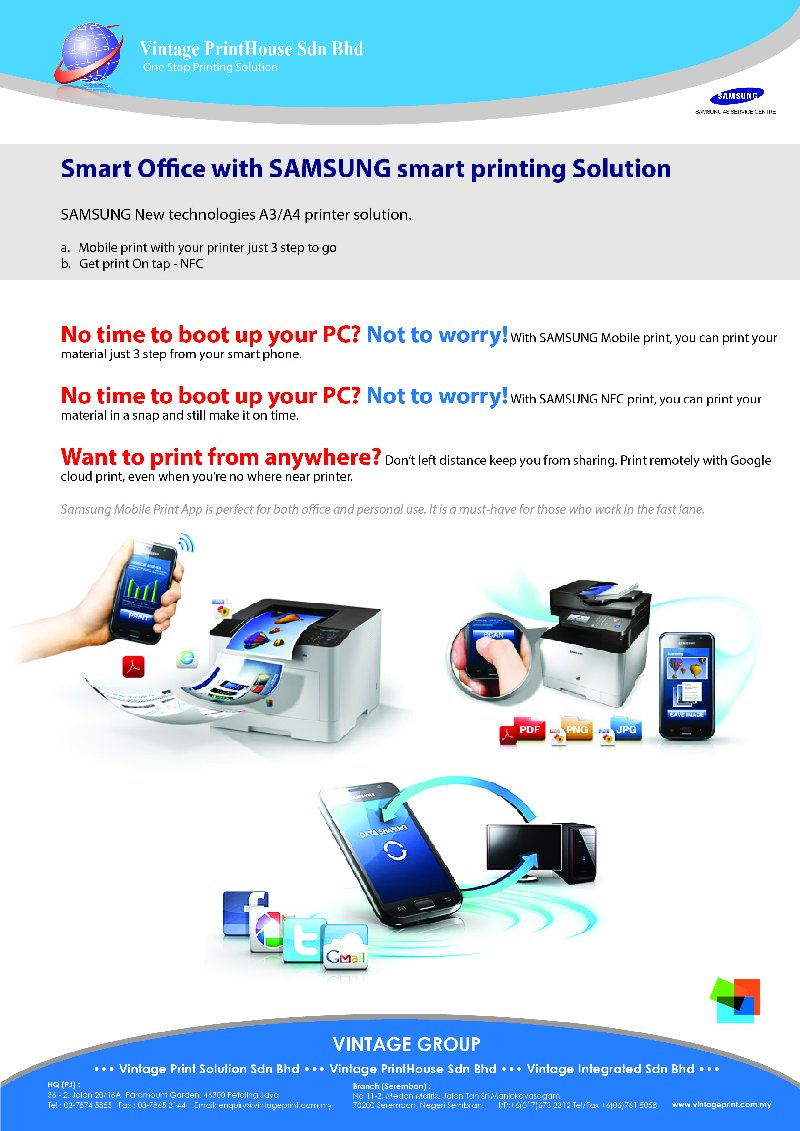 Smart Office with SAMSUNG smart printing Solution