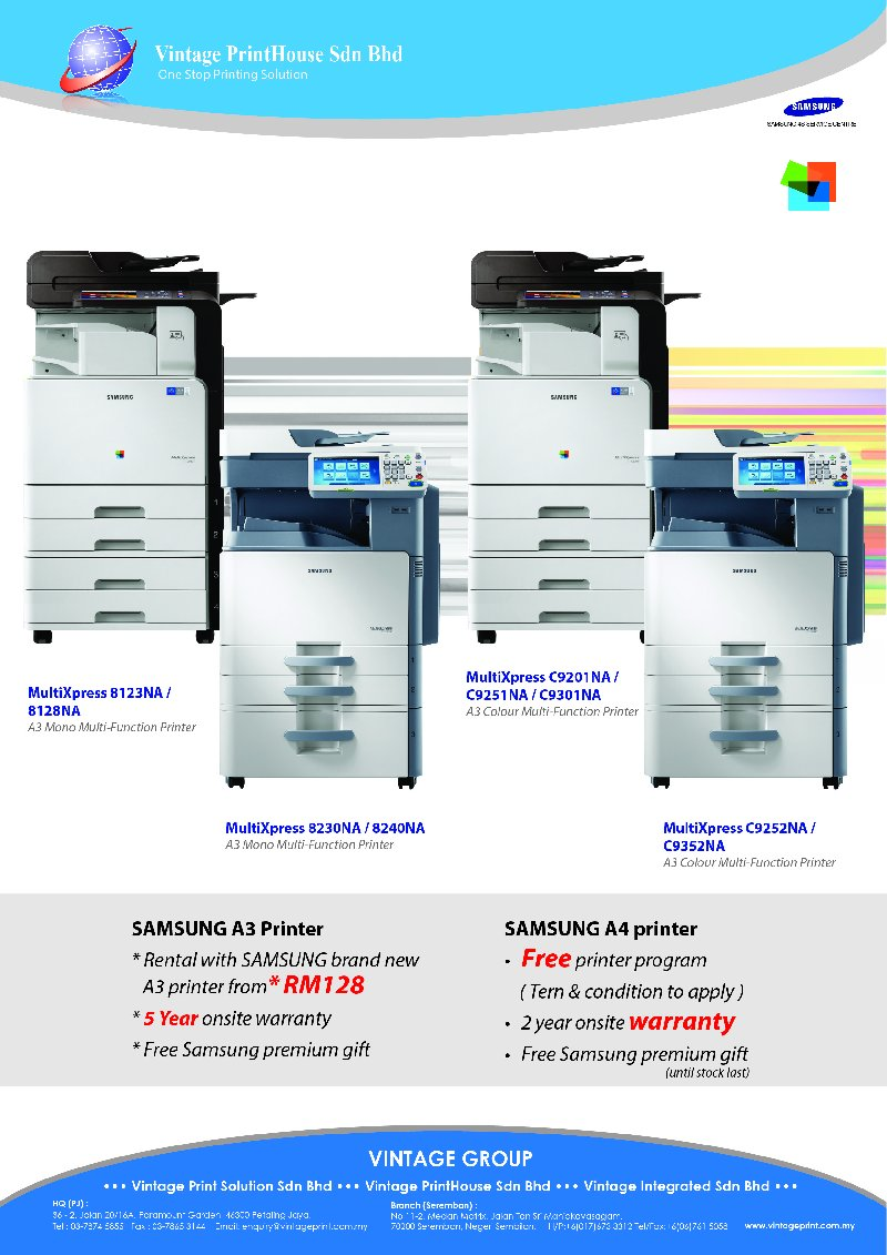 A3 Multi-Function Printer