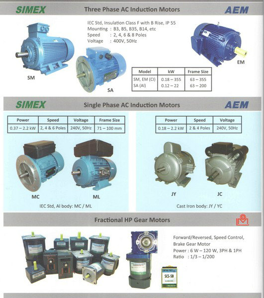AEM Single Phase AC Induction Motor