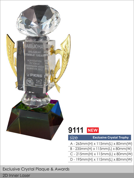 CT-9111 Crystal Plaque / Awards