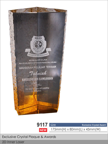 CT-9117 Crystal Plaque / Awards