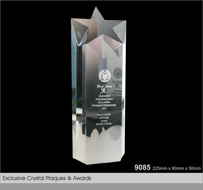 CT-9085 Crystal Plaque / Awards