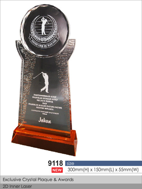 CT-9118Crystal Plaque / Awards