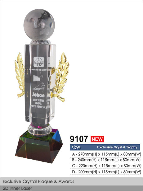 CT-9107 Crystal Plaque / Awards