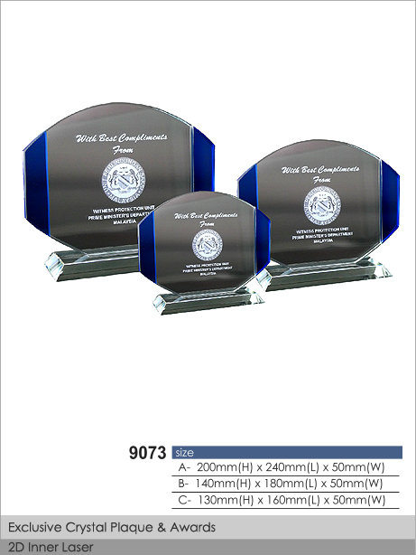 CT-9073 Crystal Plaque / Awards