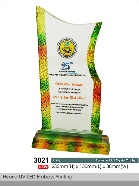 CT-3021 Crystal Plaque / Awards