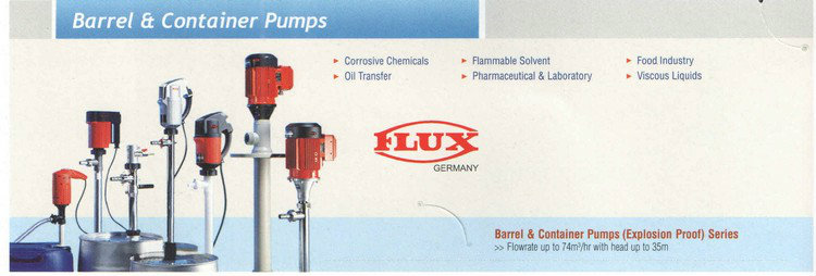 Barrel / Container  Flux Pump