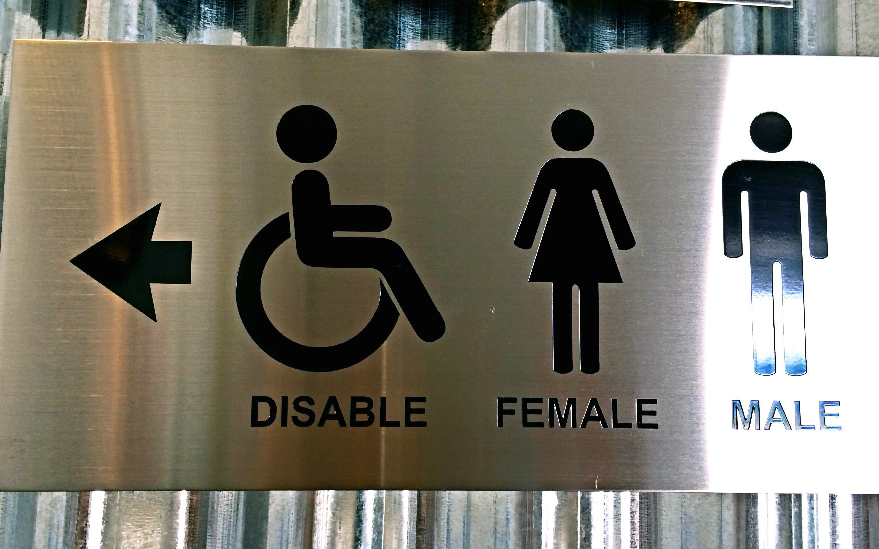 Stainless Steel Etching Signage Toilet Sign Singapore Signage Supplier Supply Led Signboard