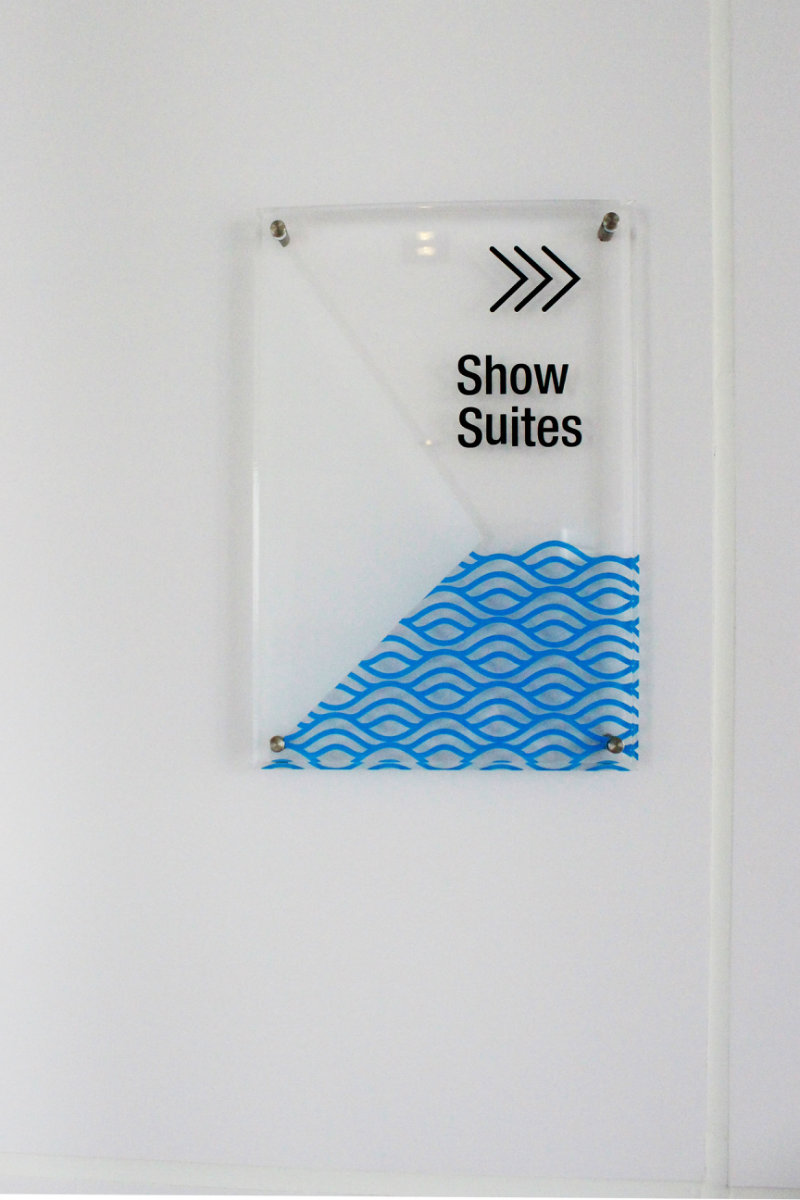Acrylic Signage with spacer