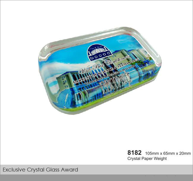 CT-8182 Crystal Paper Weight