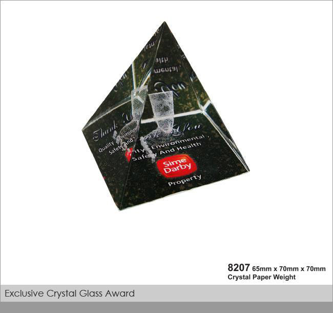 CT-8207 Crystal Paper Weight