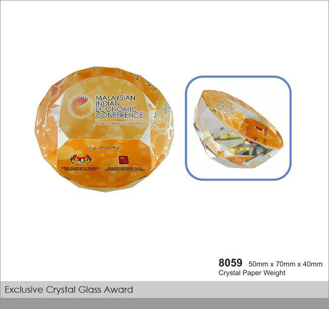 CT-8059 Crystal Paper Weight