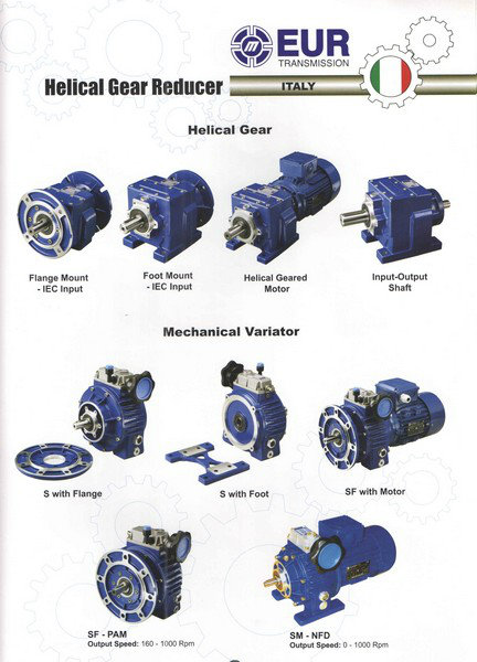 EUR Helical Gear Reducer, Mechanical Variotor