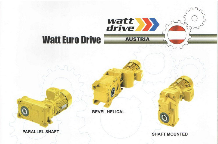 Watt Euro Drive Parallel Shaft, Bevel Helical, Shaft Mounted