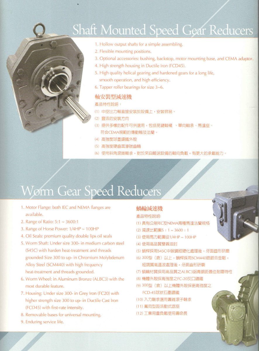 Shaft Mounted Speed Gear Reducer, Worm Gear Speed Reducer