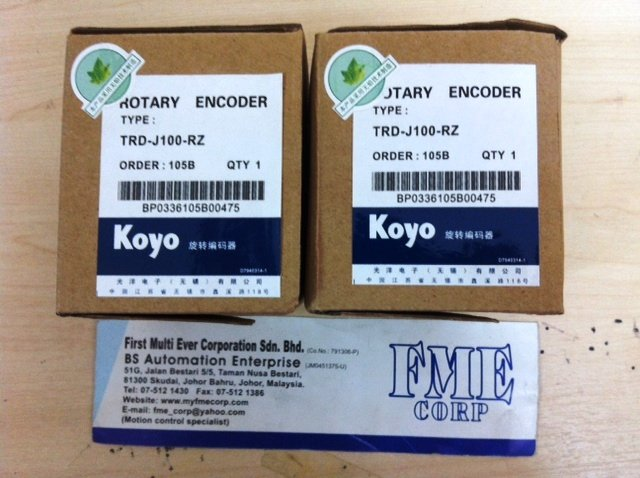 KOYO ROTARY ENCODER TRD-J100-RZ TRD-N MALAYSIA JAKARTA INDONESIA SINGAPORE