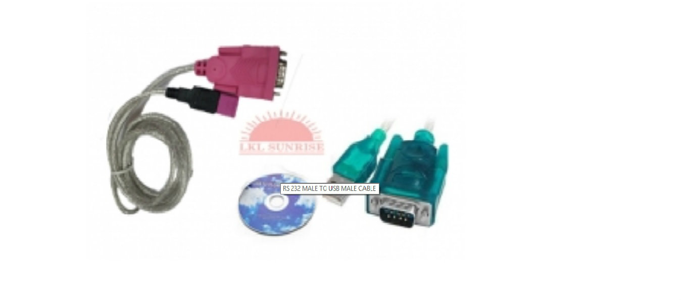RS 232 MALE TO USB MALE CABLE