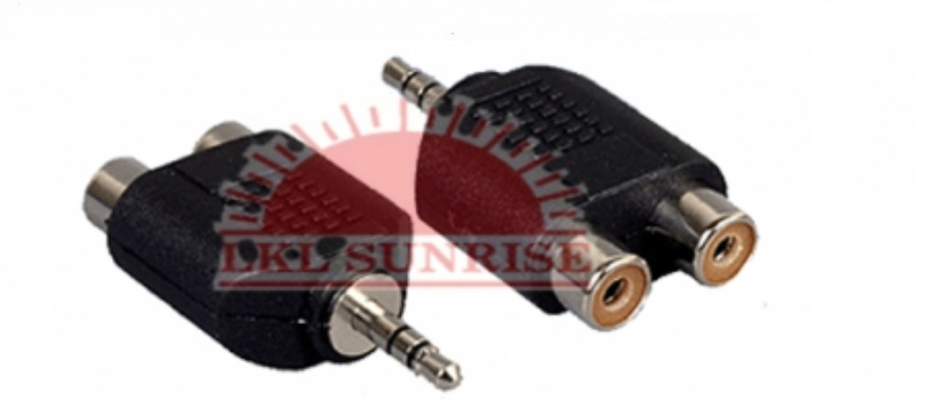 3.5MM STEREO PLUG TO 2 X RCA JACK ADAPTOR