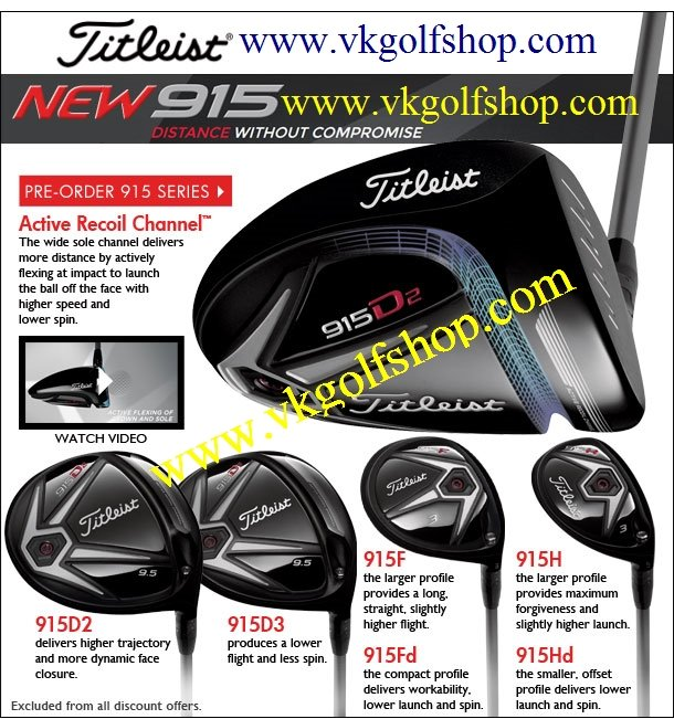 Titleist 915 Series ROCKS like TORNADO