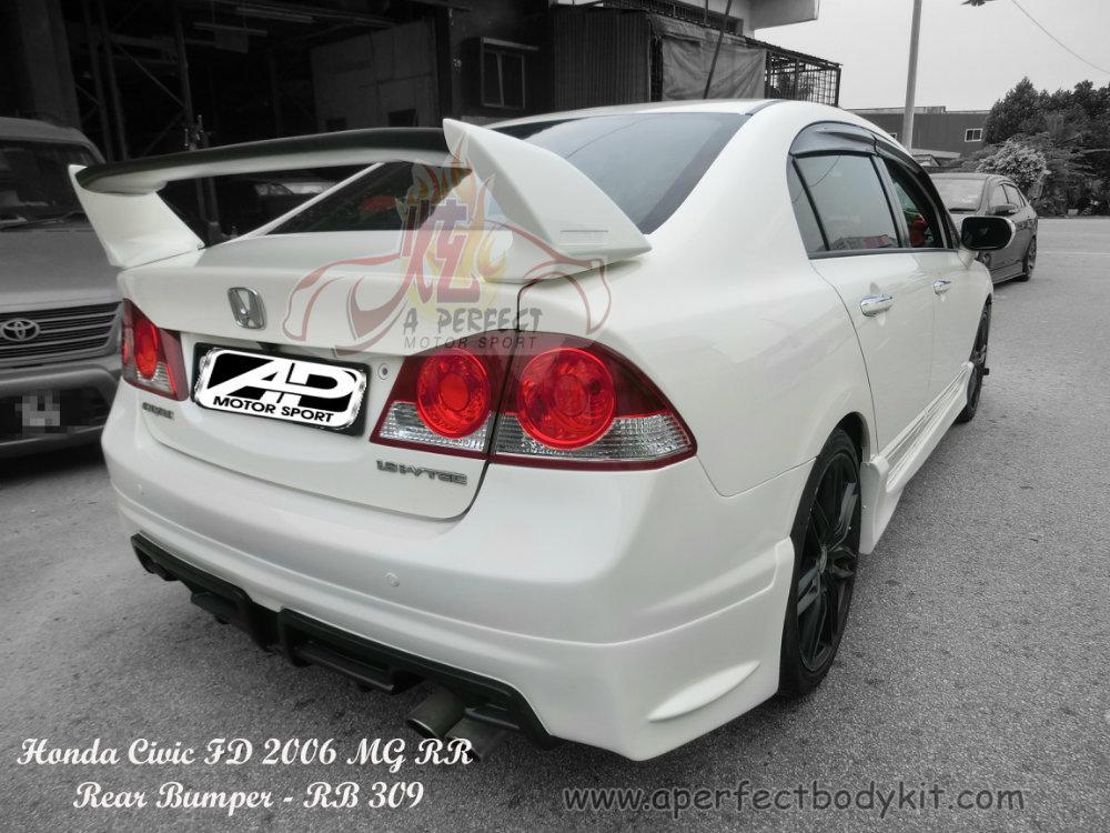 Honda Civic FD 2006 MG RR Rear Bumper Honda Civic FD 2006 and 2009 Johor Bahru JB Malaysia Body ...