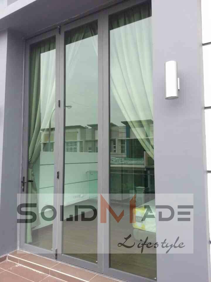 Aluminum 3 Panel Folding Door Aluminum Folding Door Aluminum Folding ...