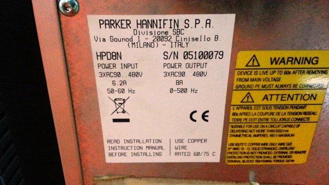 PARKER HANNIFIN S.P.A SERVO DRIVE HPD2N HPD5N HPD8N HPD16N HPD24N MALAYSIA SINGAPORE INDONESIA