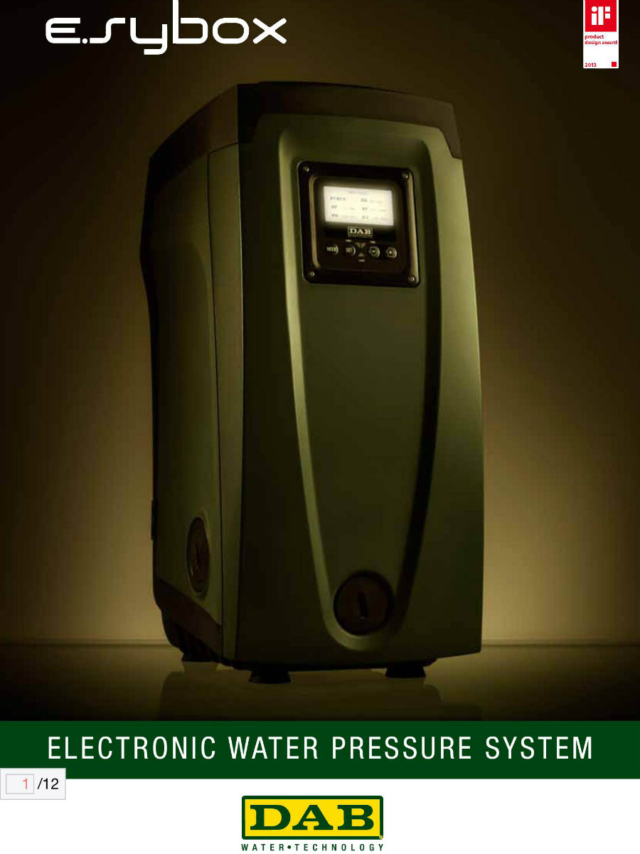 DAB Electronic Water Pressure System