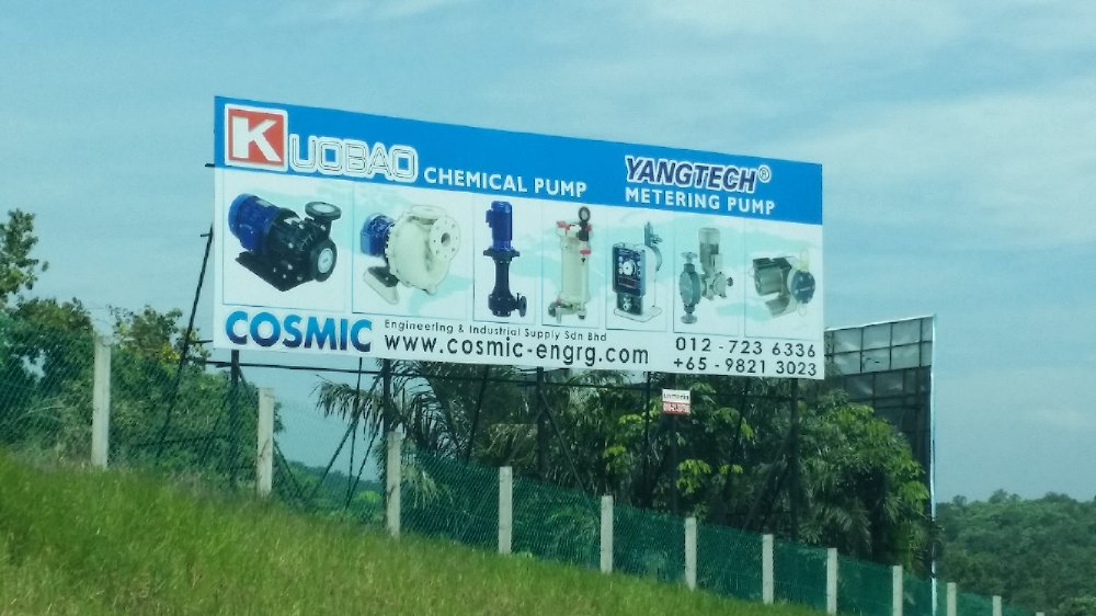 Cosmic Engineering & Industrial Supply Sdn. Bhd. Signboard!