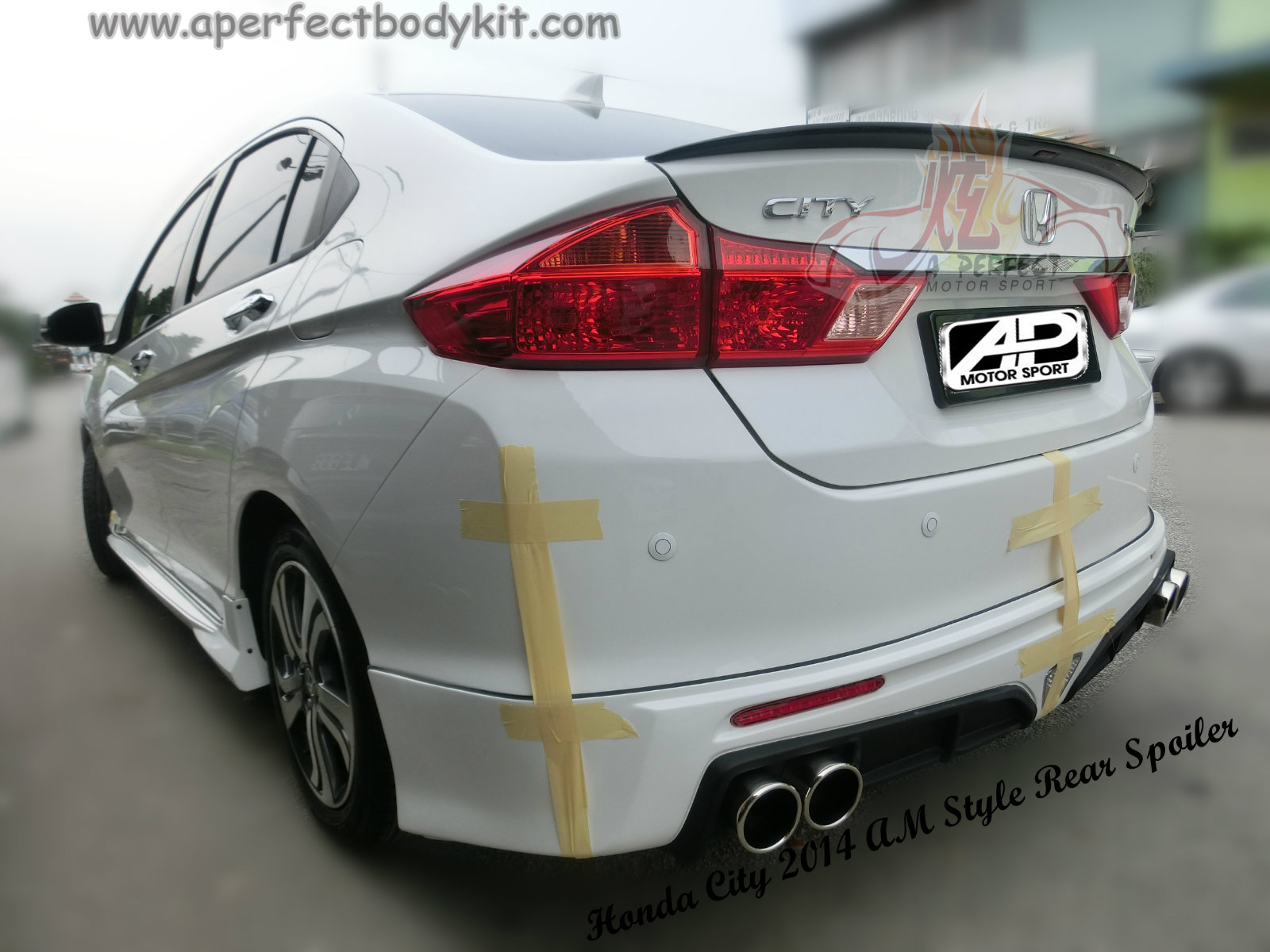 Honda City 2014 Am Style Rear Spoiler Honda City 2014