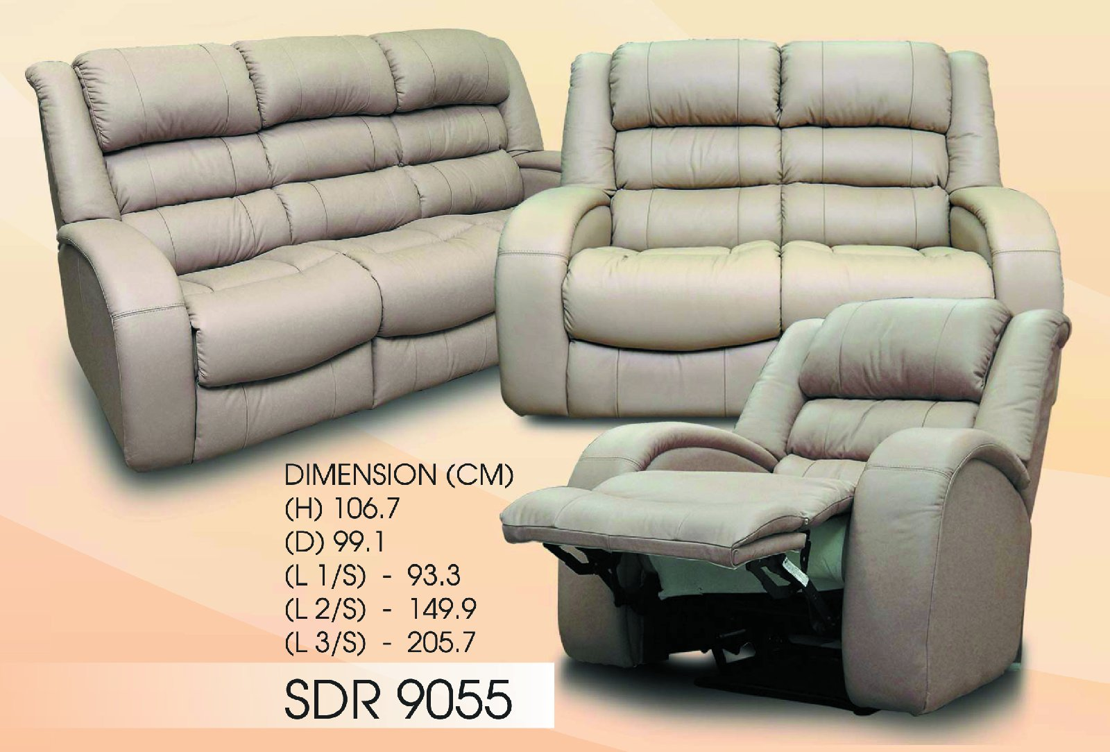 SDR 9055 Single Recliner Chair