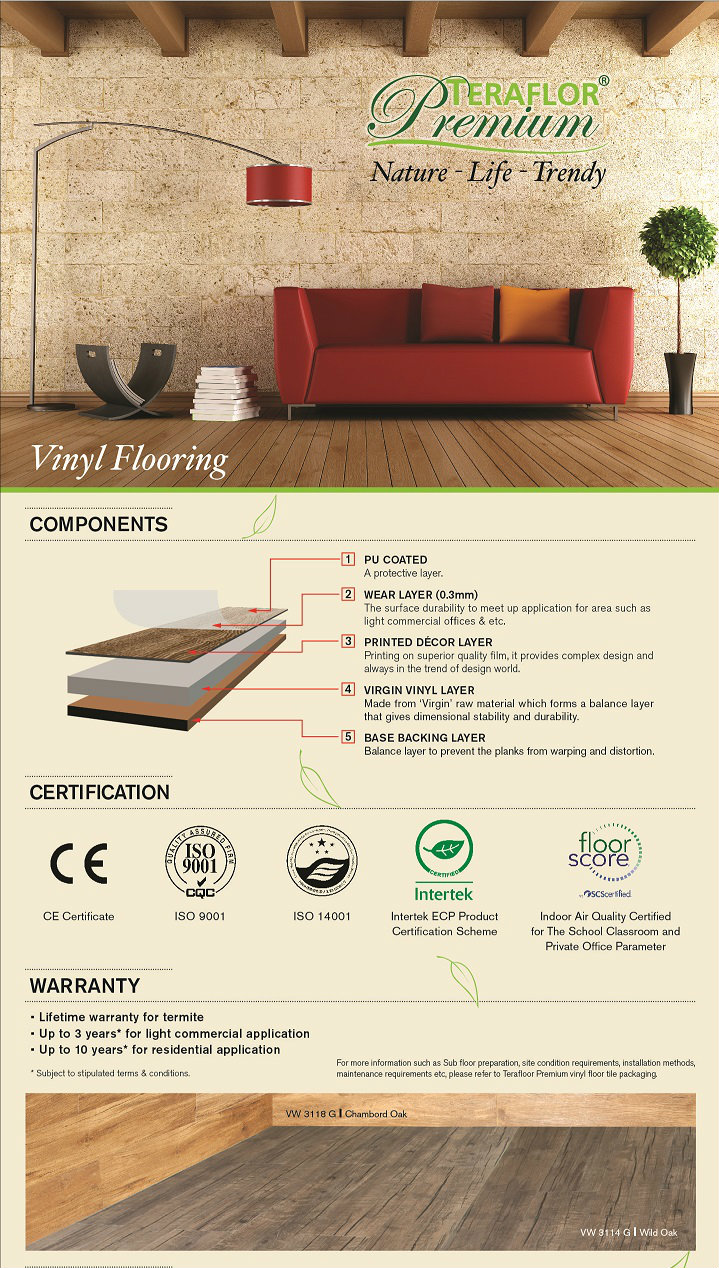 Vinyl Click Flooring 4mm
