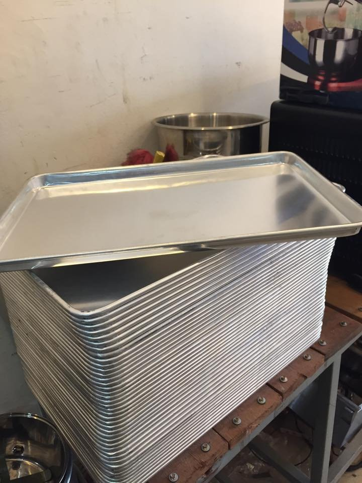 Aluminium Baking Tray 600mm x 400mm x 30mm