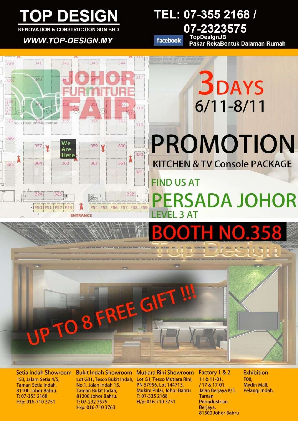 Special Offer + Free Gifts just at Persada Furniture Fair Level 3 Booth 358