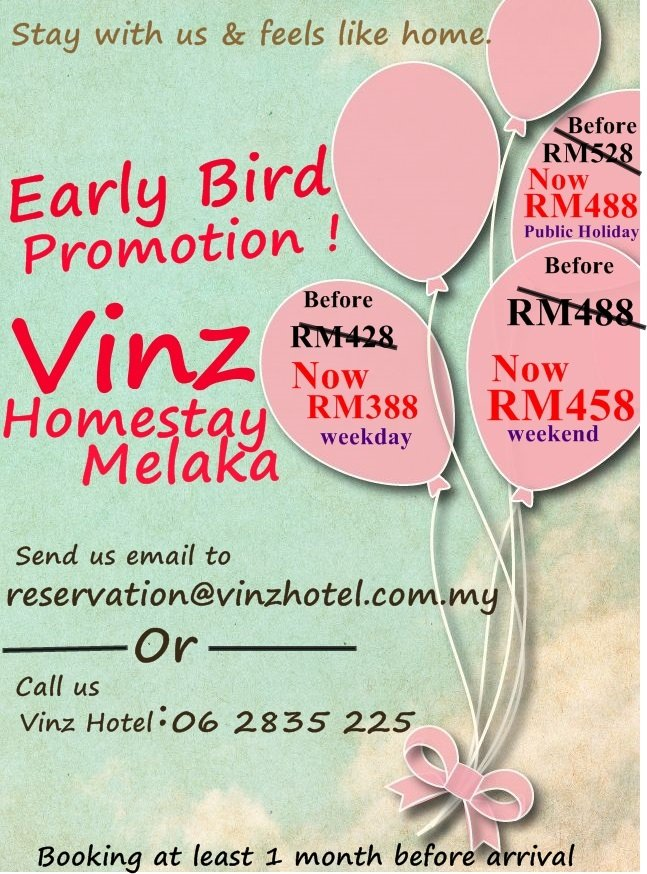 Homestay Early Bird Promotion