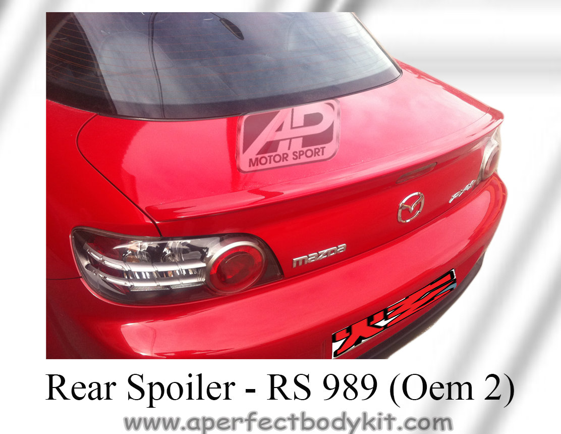 Mazda RX8 2003 Rear Boot Lip Spoiler