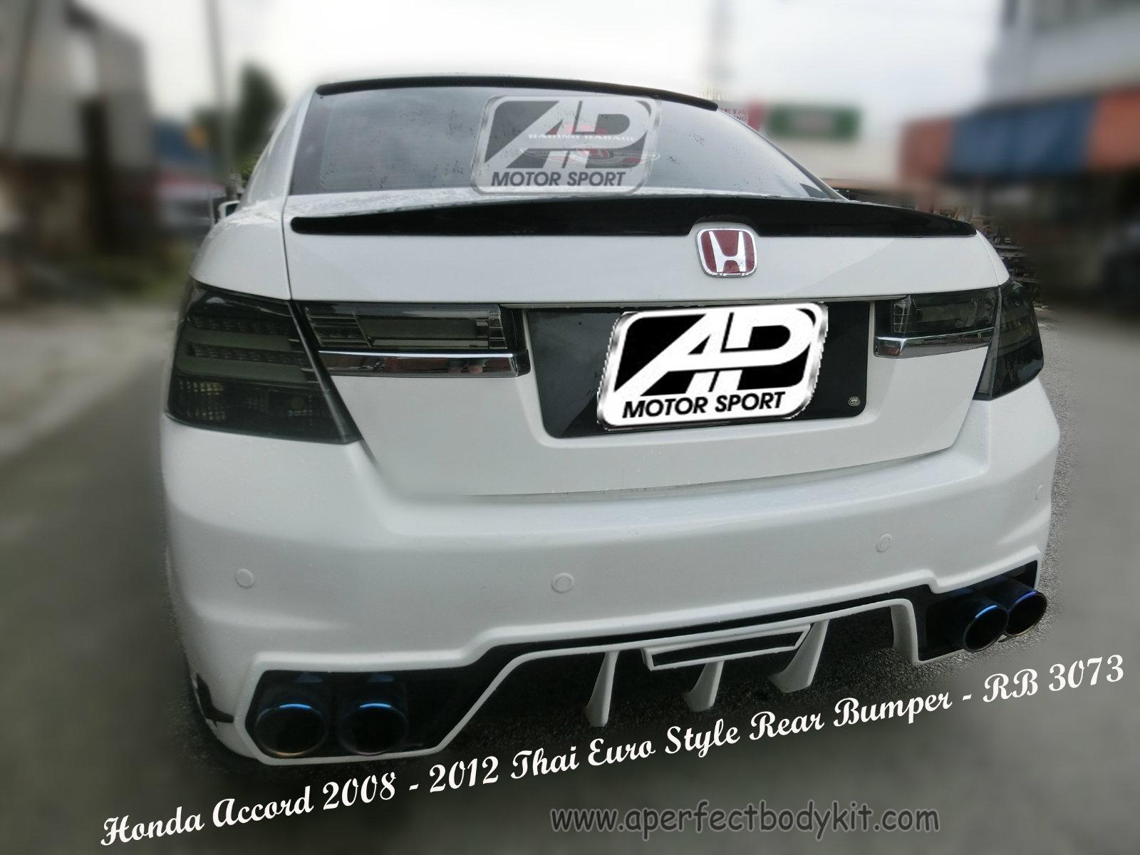 honda accord 2011 thai euro style rear bumper honda accord 2011