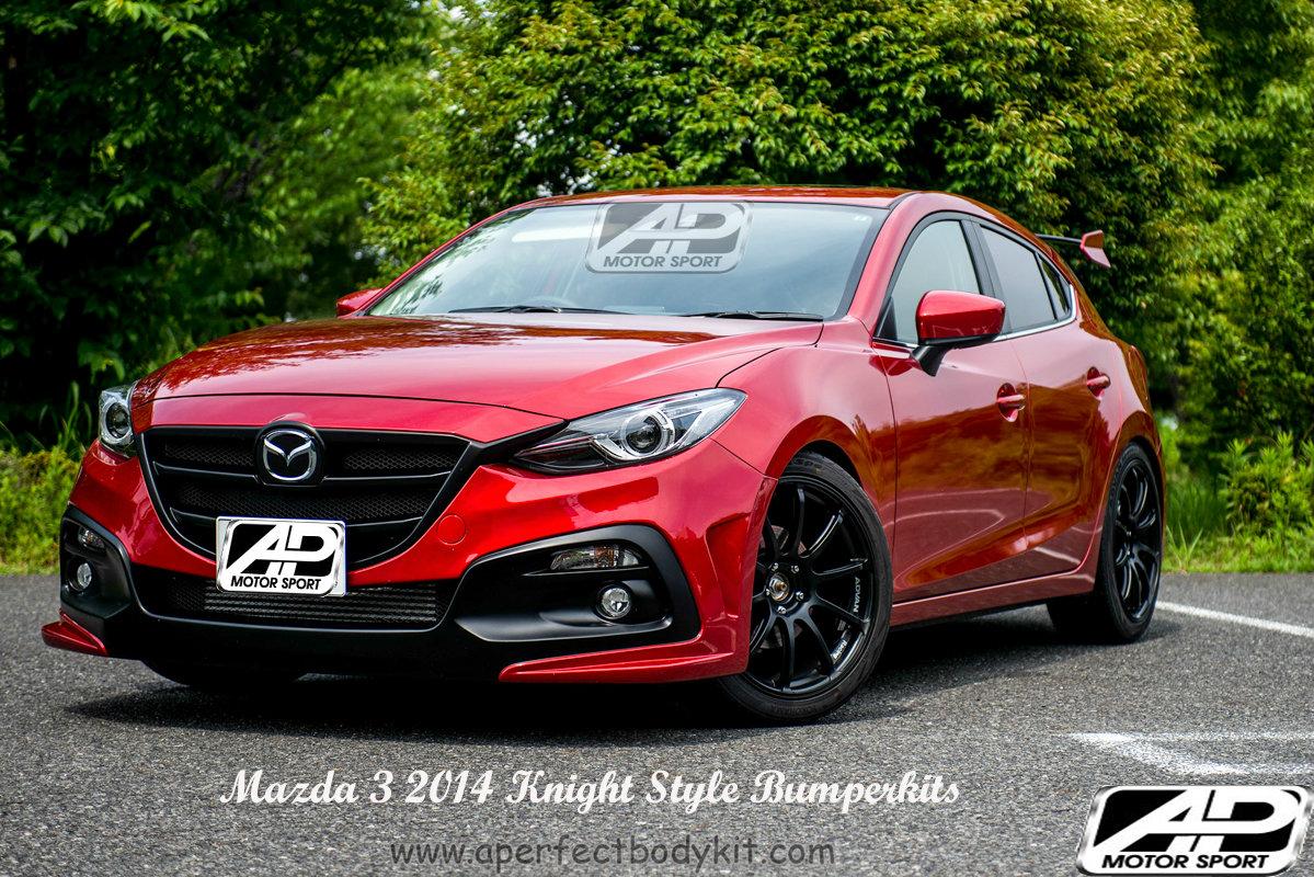 Mazda 3 2014 Knight Style Front Bumper Mazda Mazda 3 2014