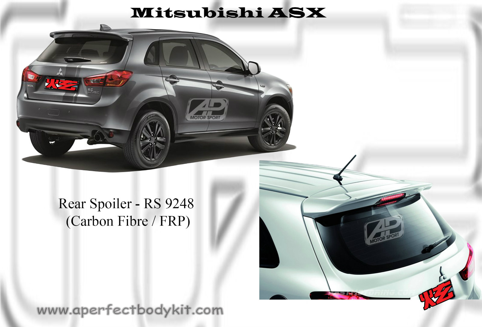 mitsubishi asx rear spoiler mitsubishi asx jb johor. Black Bedroom Furniture Sets. Home Design Ideas