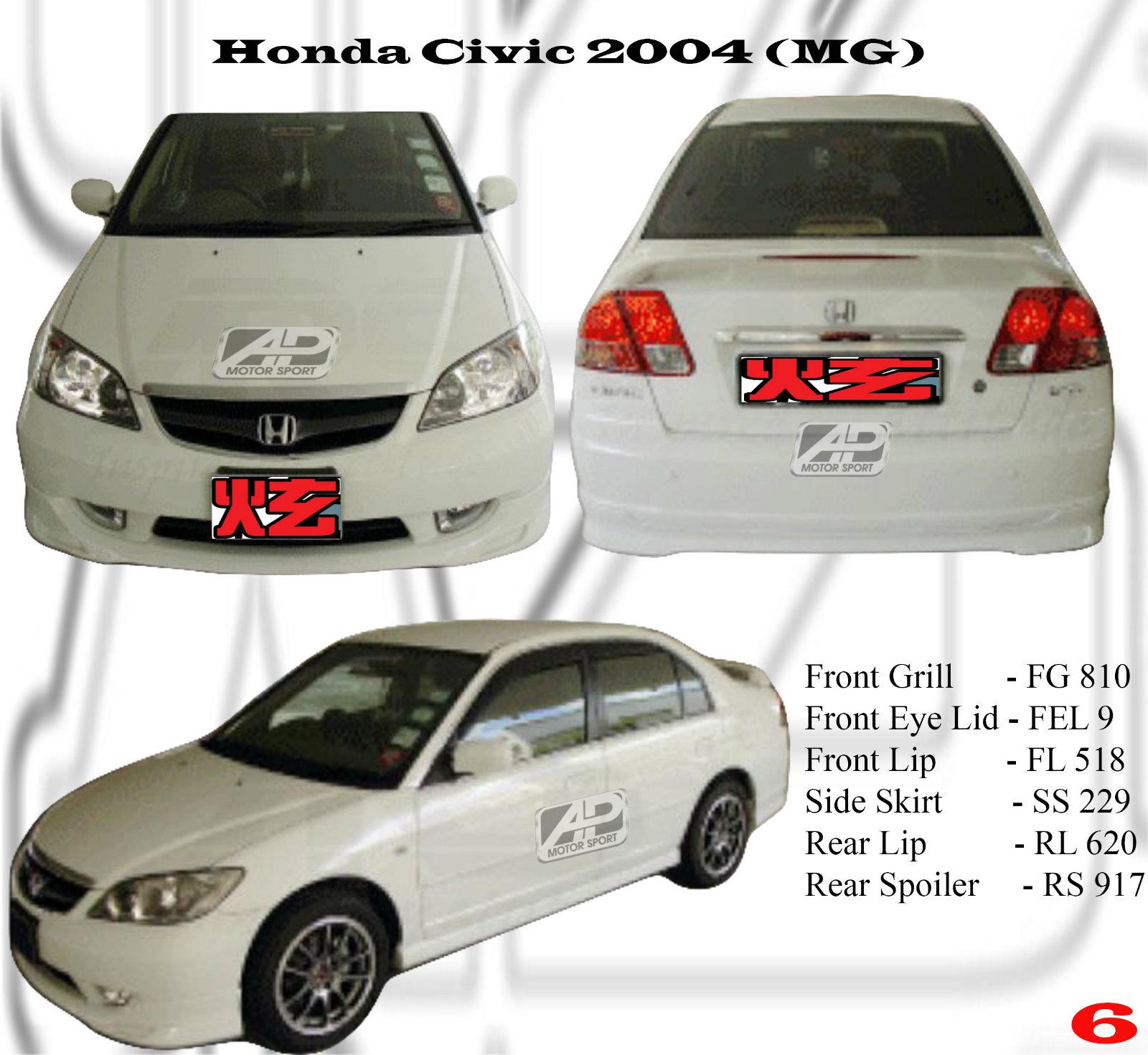 Honda Civic 2005 Mg Bodykits Honda Civic 2005 Johor Bahru Jb Malaysia Body Kits A Perfect Motor Sport