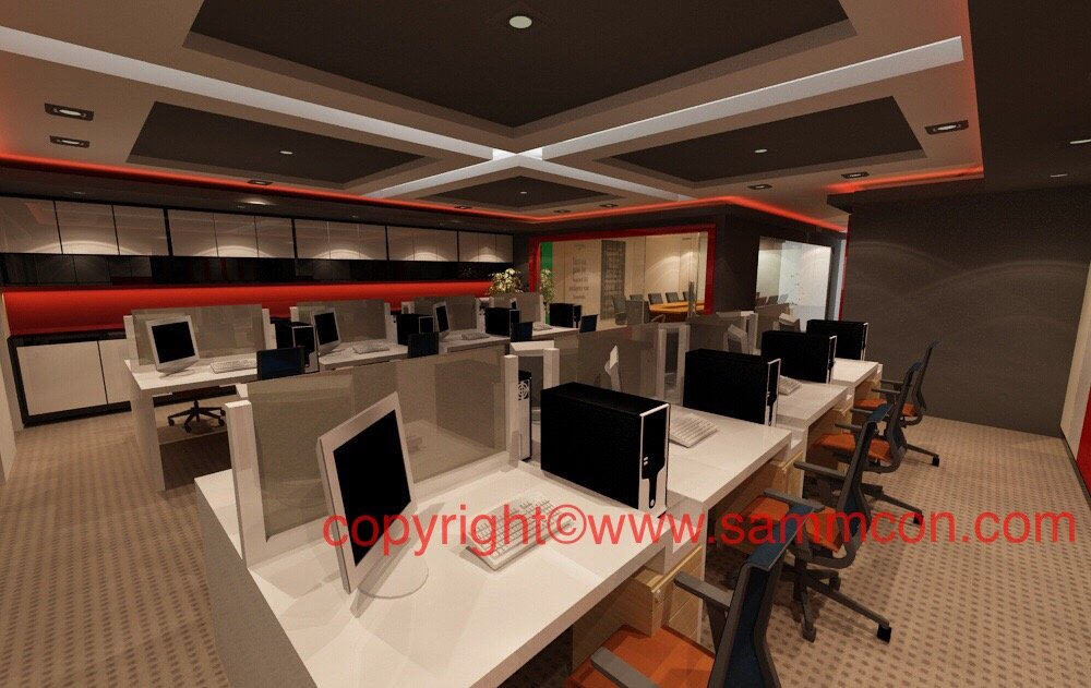 office design works . office renovation works johor bahru