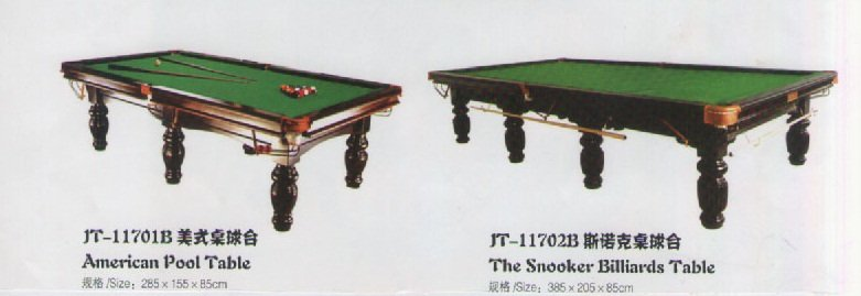American Pool Table / Snooker Billiards Table