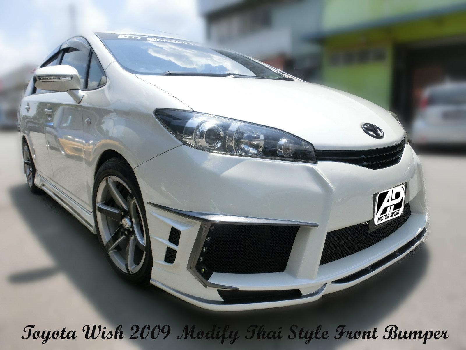 Toyota Wish 2009 Modify Thai Style Front Bumper Custom