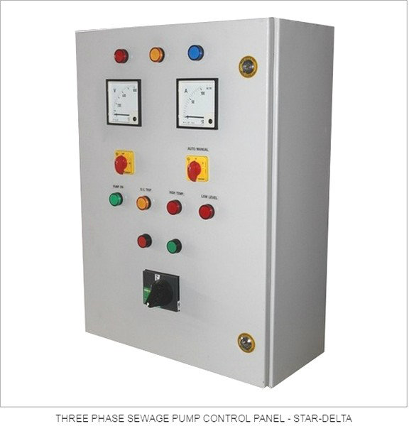 Three Phase Star Delta Control Panel Electrical Type, Centre