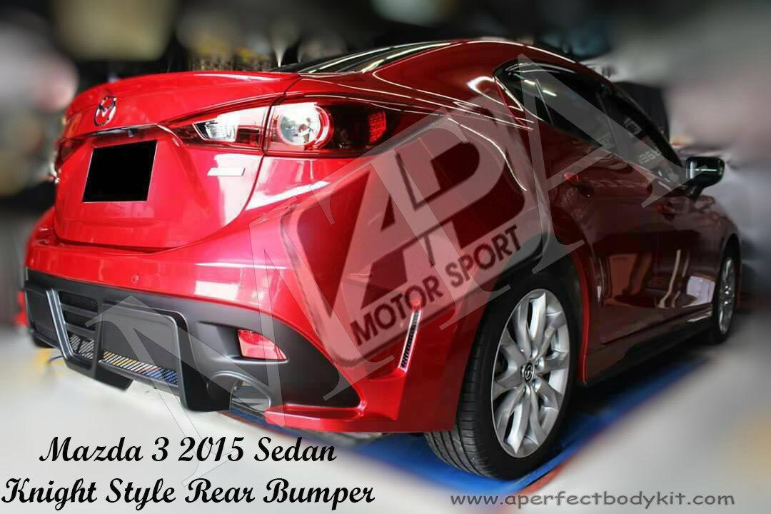 Mazda 3 2015 Knight Style Rear Bumper Mazda Mazda 3 2014 ...