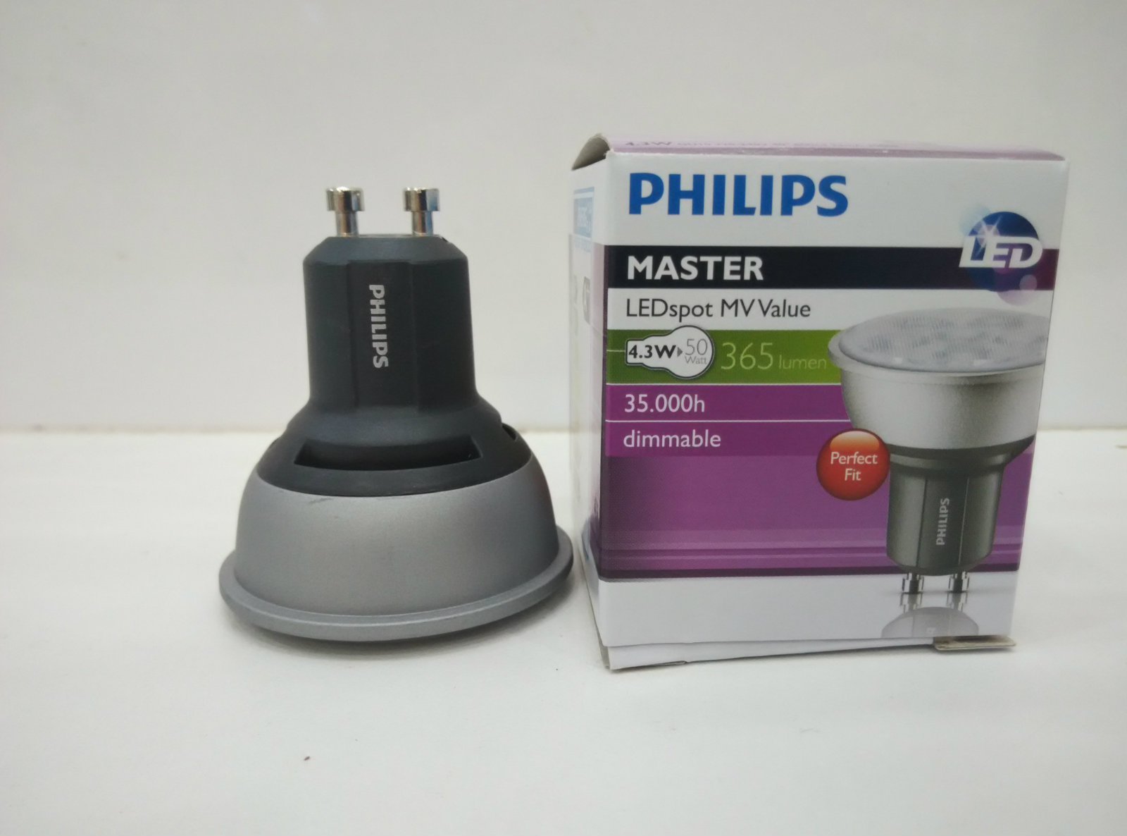 PHILIPS LED GU10 4.3W DIMMABLE BULB