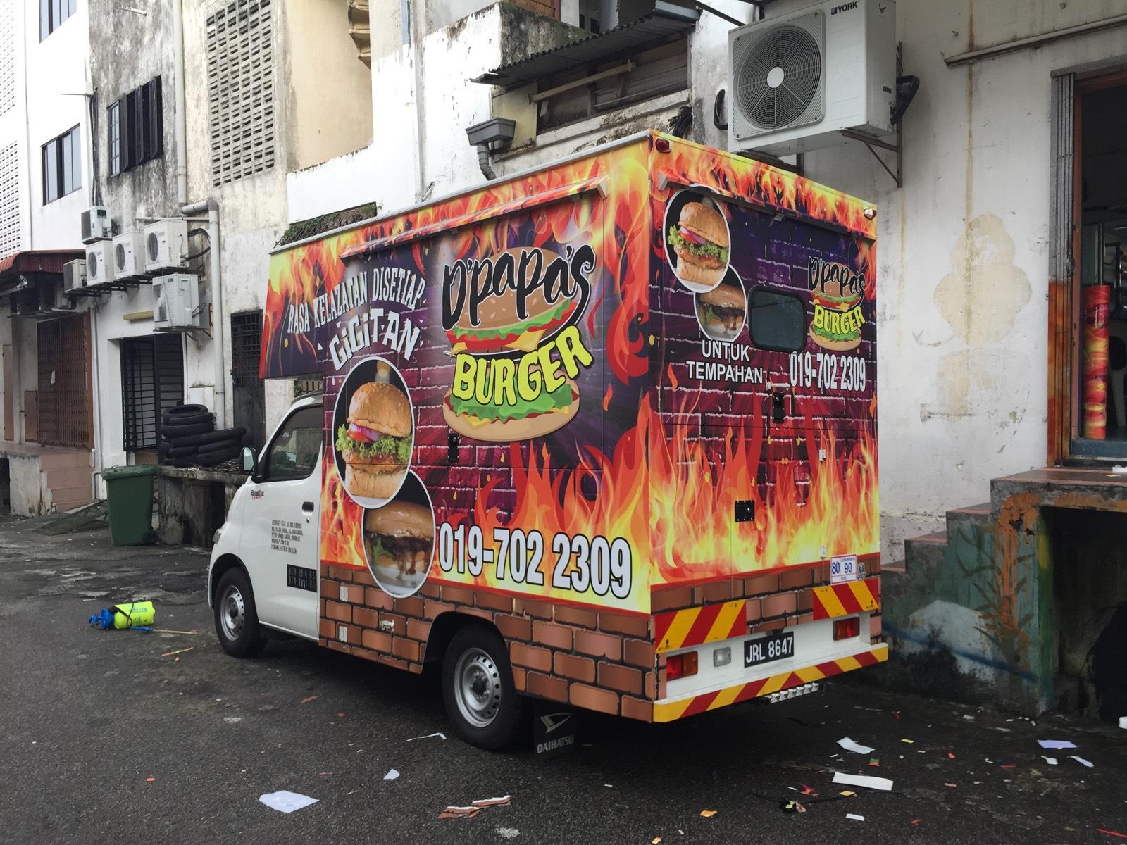 Car sticker design jb - Buger Food Truck