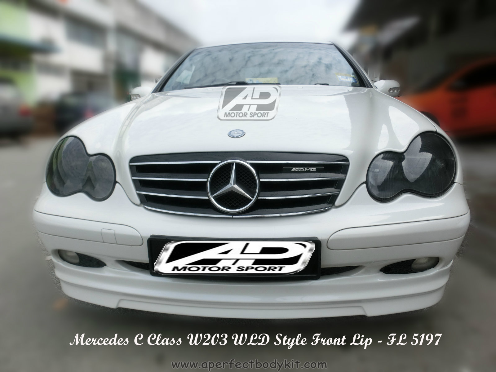 Mercedes C Class W203 WLD Style Front Lip
